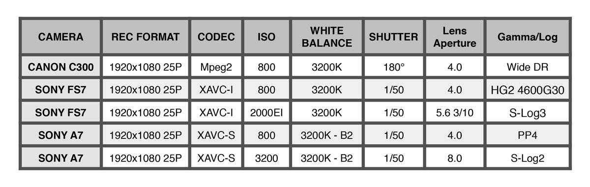 Sony FS7, Alpha7S, Canon C300: color science comparison